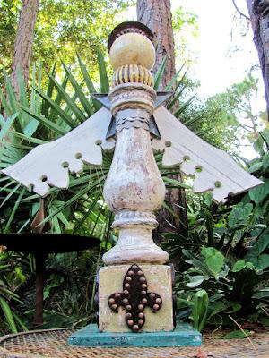 wood angel art sculpture