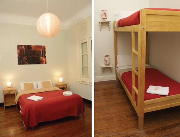 tour pelo hostel suites obelisco em buenos aires, argentina - quartos - acomodações - camas - bedrooms