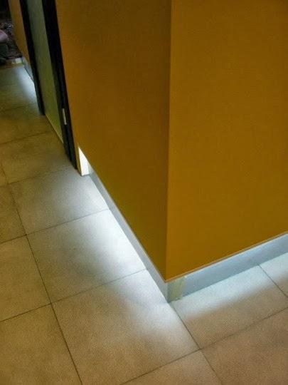 Скрито осветление към пода