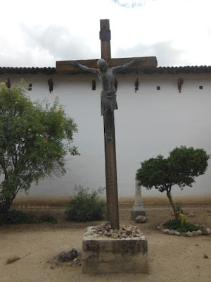 Crucifix in Cemetery at Mission San Miguel, © B. Radisavljevic