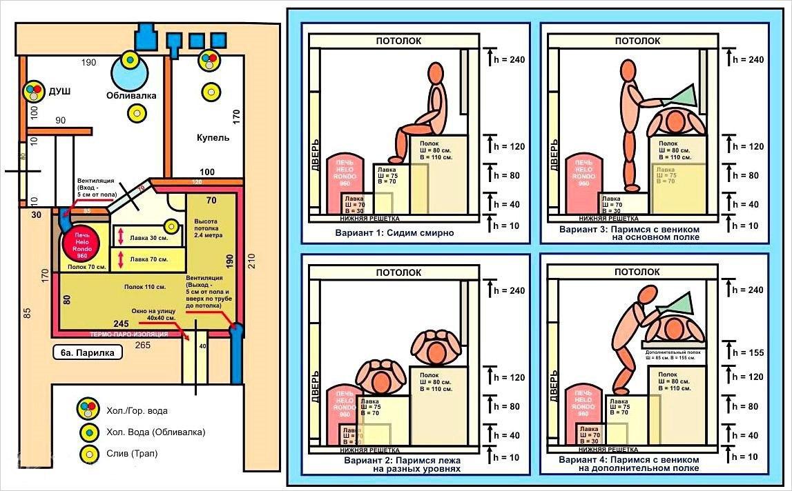 Как сделать полок для бани размеры 968