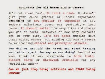 activists.. humans...