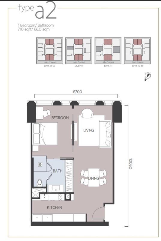 1 Bedroom Type A2
