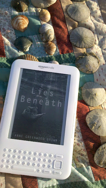 Lies Beneath by Anne Greenwood Brown YA mermaids seashells beach sand dollars kindle