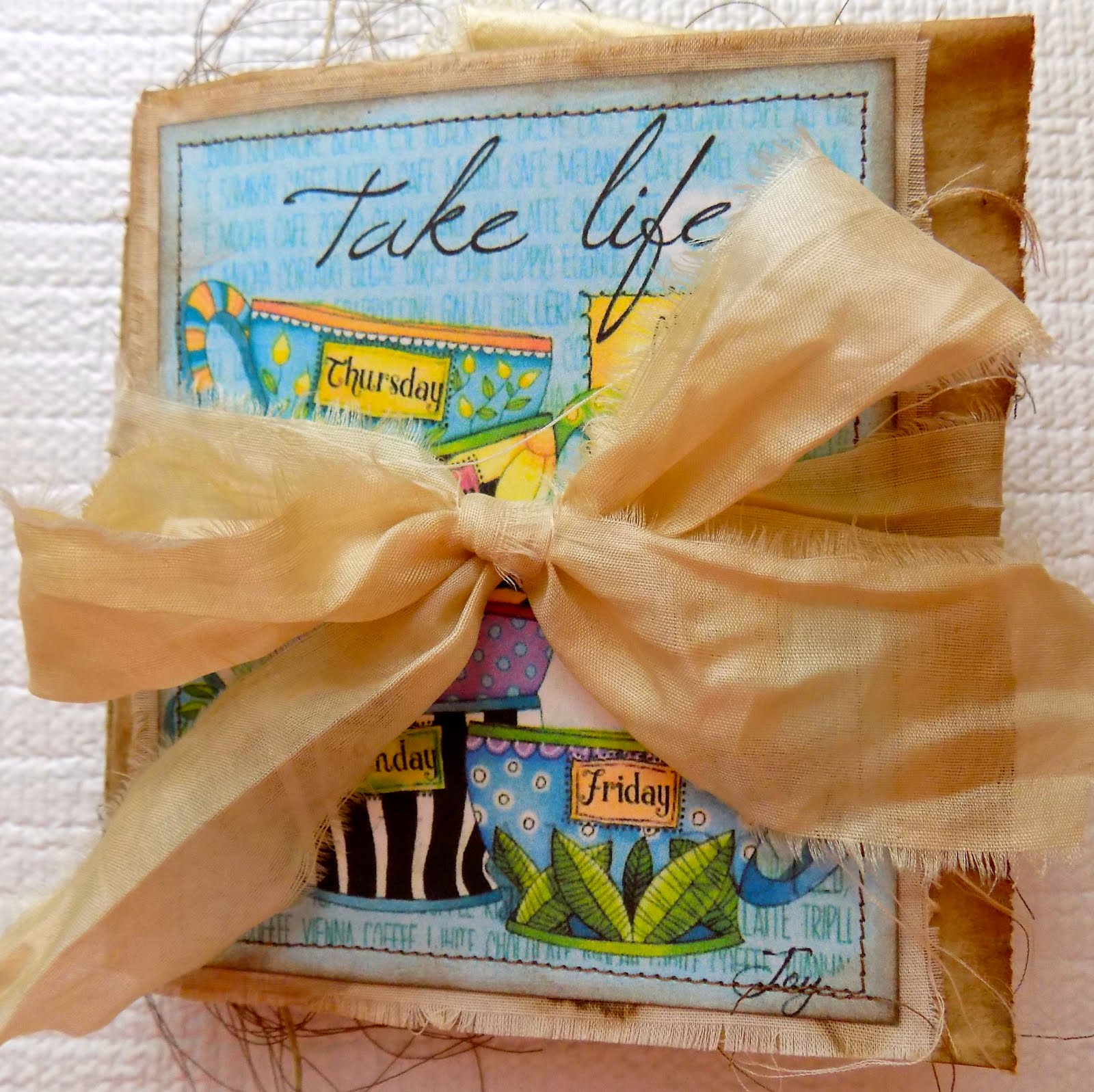 FOR SALE: Take Life One Cup At A Time Lunch Bag Journal