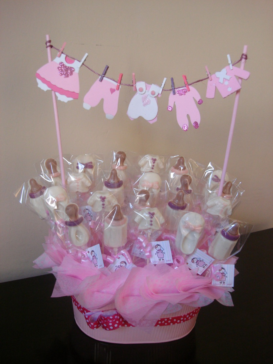 Decoraciones luzmar for Centro de mesa baby shower
