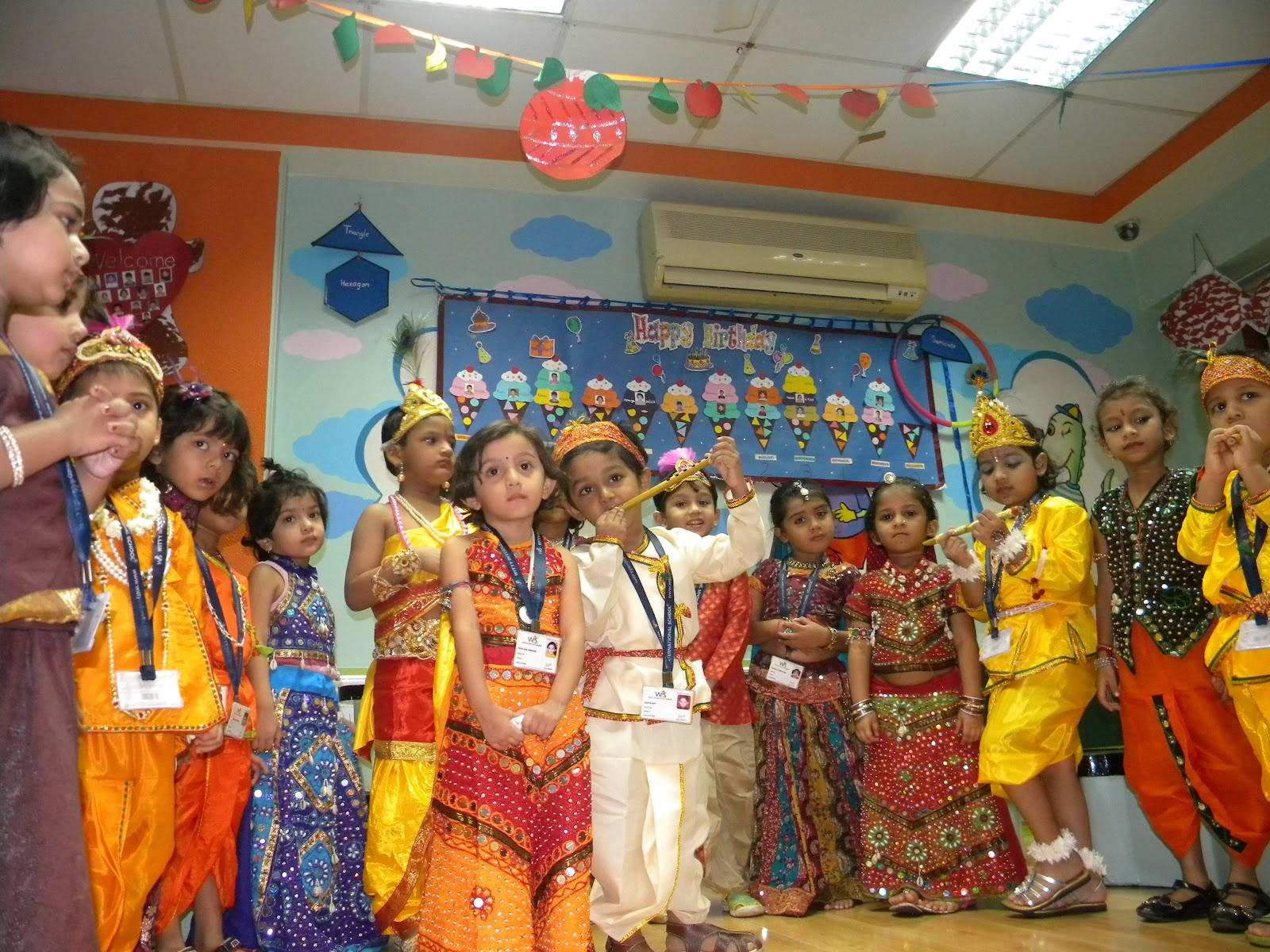 On the top of the World...: Janmashtami Celebrations Jr. Kg. (