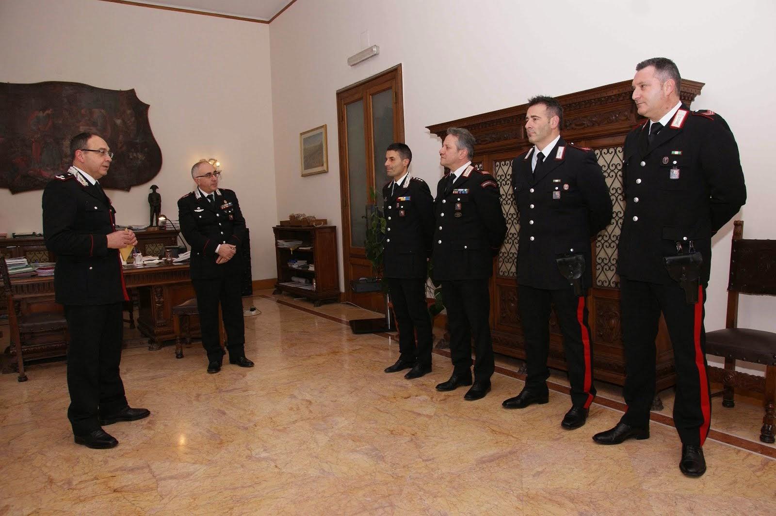 I Carabinieri premiati