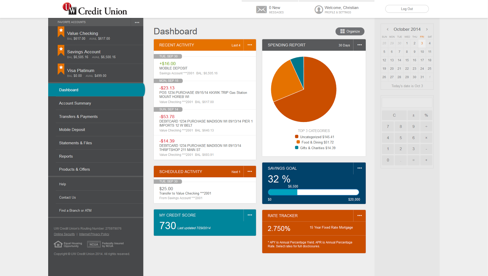 new web branch dashboard