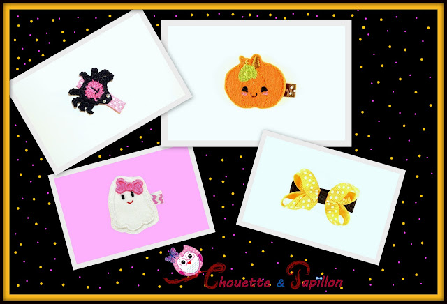 barrette fille halloween, barrette anti glisse