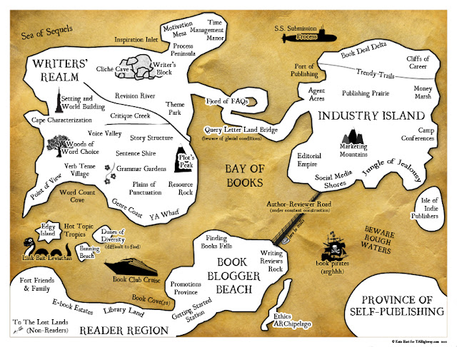 YA publishing map