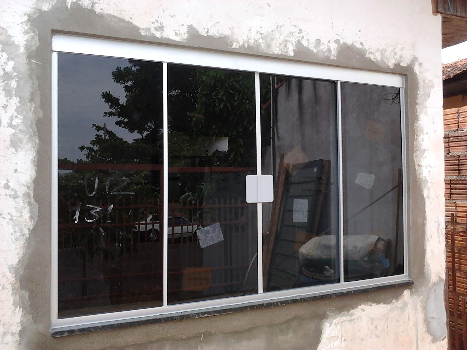 #684437 Perfil de Alumínio escolhido pelo cliente é na cor natural fosco e  444 Janelas De Vidros Temperados Preços