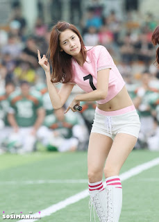 Im Yoona Korean Cute Girl Singer Sexy Photo at Namyangju Central Football Game 27