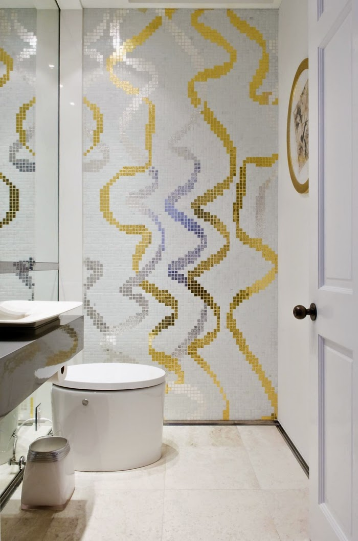 Bathroom design ideas for how to give privacy for the for Gold and silver bathroom accessories
