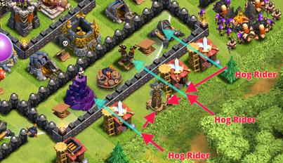 Cara Attack Menggunakan Hog Rider di Clash of Clans