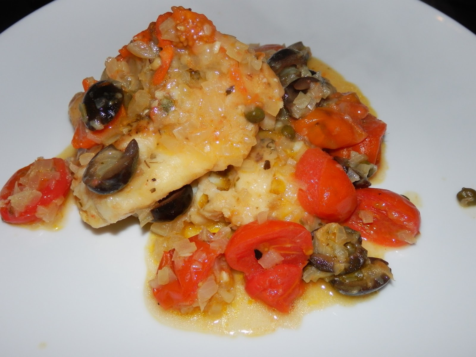 ... LIMONI: Cod with Tomatoes, Olives and Capers - Merluzzo alla Livornese