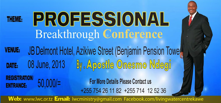 Apostle Onesmo Ndegi Welcomes you to