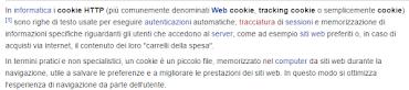 Informativa sulla privacy dei Cookie