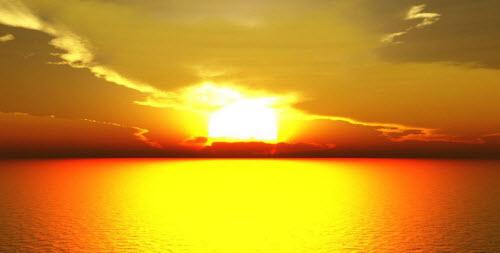 Sol espectacular amanecer