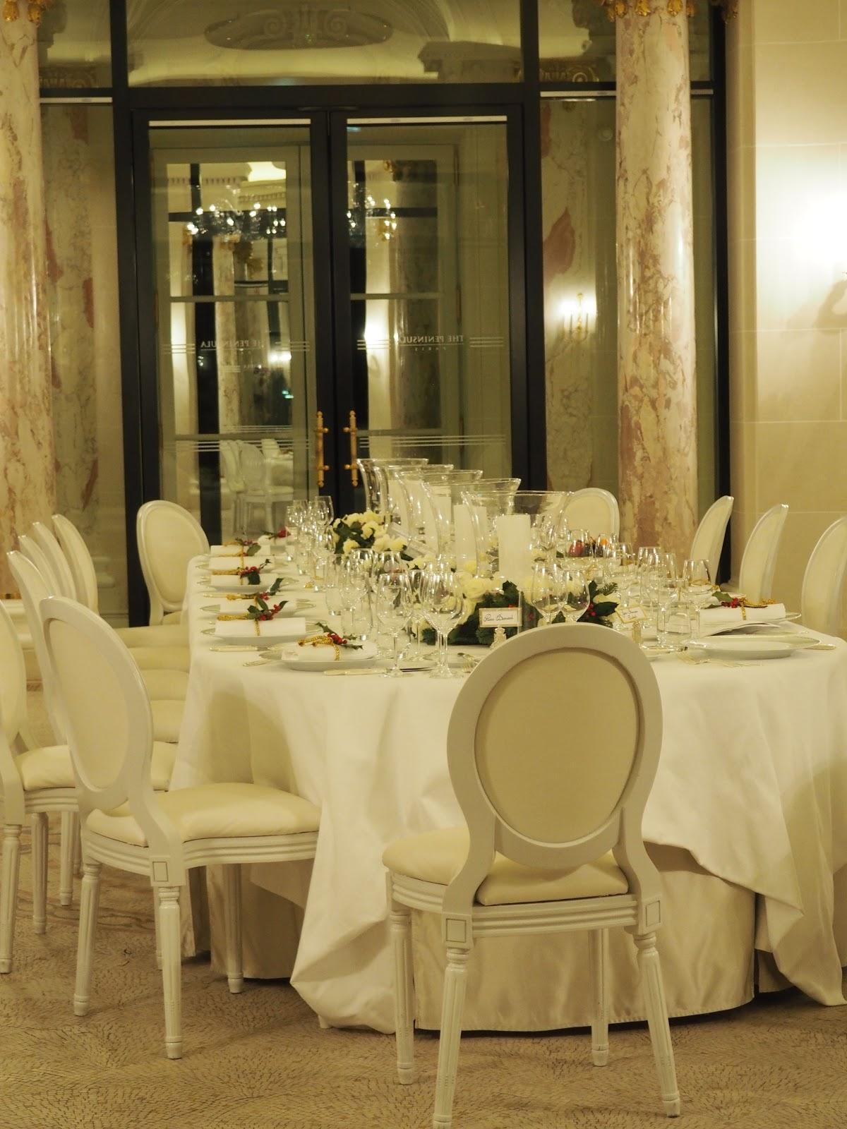 Peninsula Hotel, Paris, Private dining room