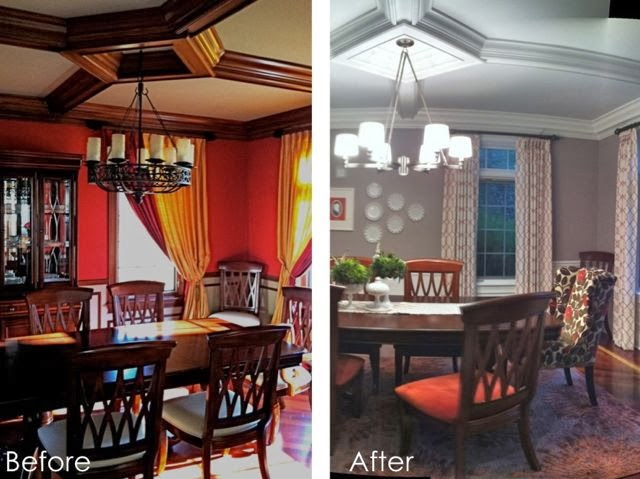 Roomations Dining Room Before After