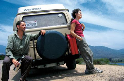 Raunchy Road Trips! Don't Just See The Sights !!! - man and woman standing on a car