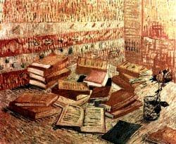 Natureza morta com livros