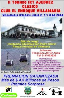 "II IRT AJEDREZ CLASICO ""Club El Enroque Villamaria"" (Dar clic a la imagen)"