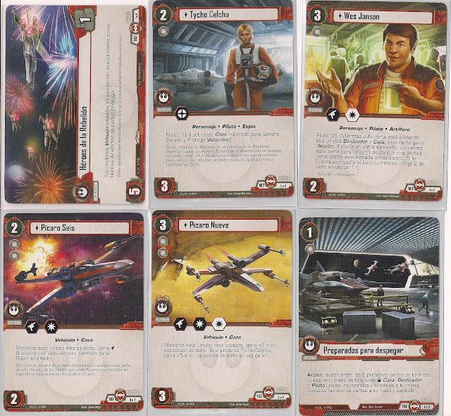 Expansión Star Wars LCG: Ciclo Escuadrón Pícaro - Salto al hiperespacio Héroes de la Rebelión