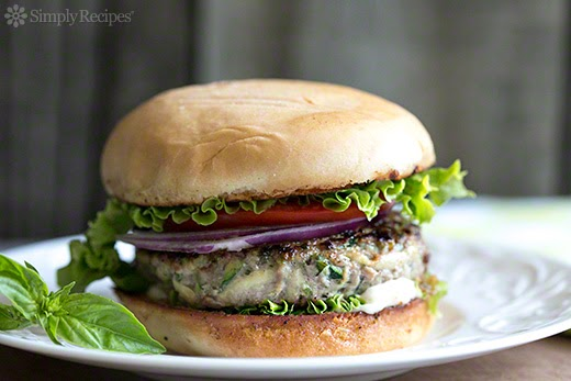Zucchini Turkey Burger with Garlic Mayo Recipe | Online Recipe