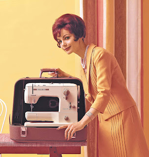 Vintage image of Bernina sewing machine