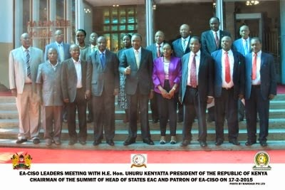 EA-CISO and EAC Top Leaders with H.E Hon Uhuru Kenyatta, President of Kenya