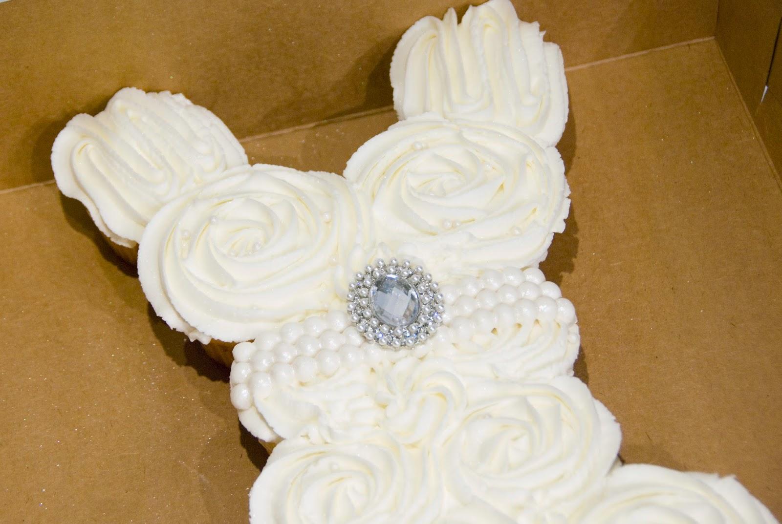 bake me a Kake Bridal Shower Wedding Gown Cupcakes