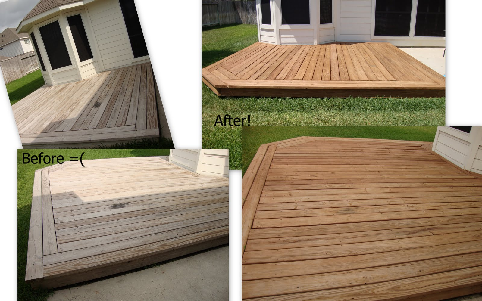 Lady Kay's Kitchen: Eco-Friendly Non-Toxic Deck Stain: TimberSoy ...