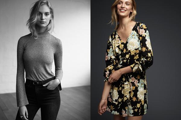 vestido corto estampado flores H&M primavera