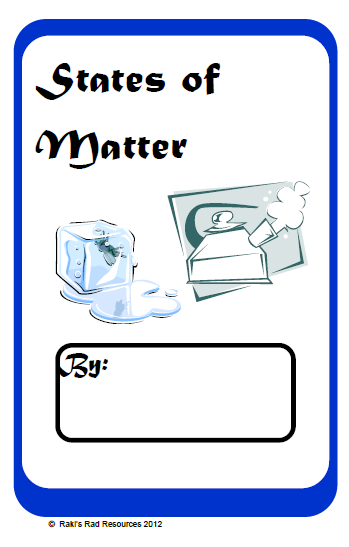 Free states of matter student booklet from Raki's Rad Resources.