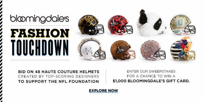 Bloomingdale's Fashion Touchdown presents 48 custom football helmets
