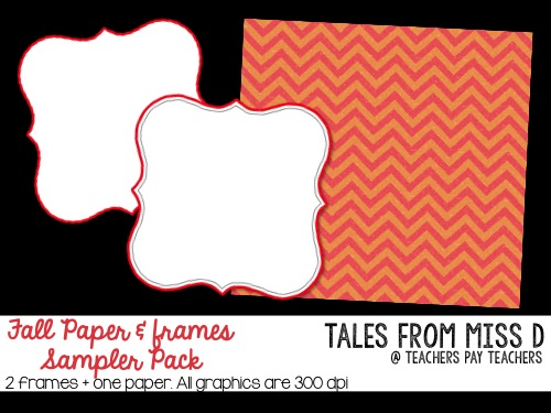 http://www.teacherspayteachers.com/Product/Fall-Paper-Frames-Sampler-FREEBIE-1440538