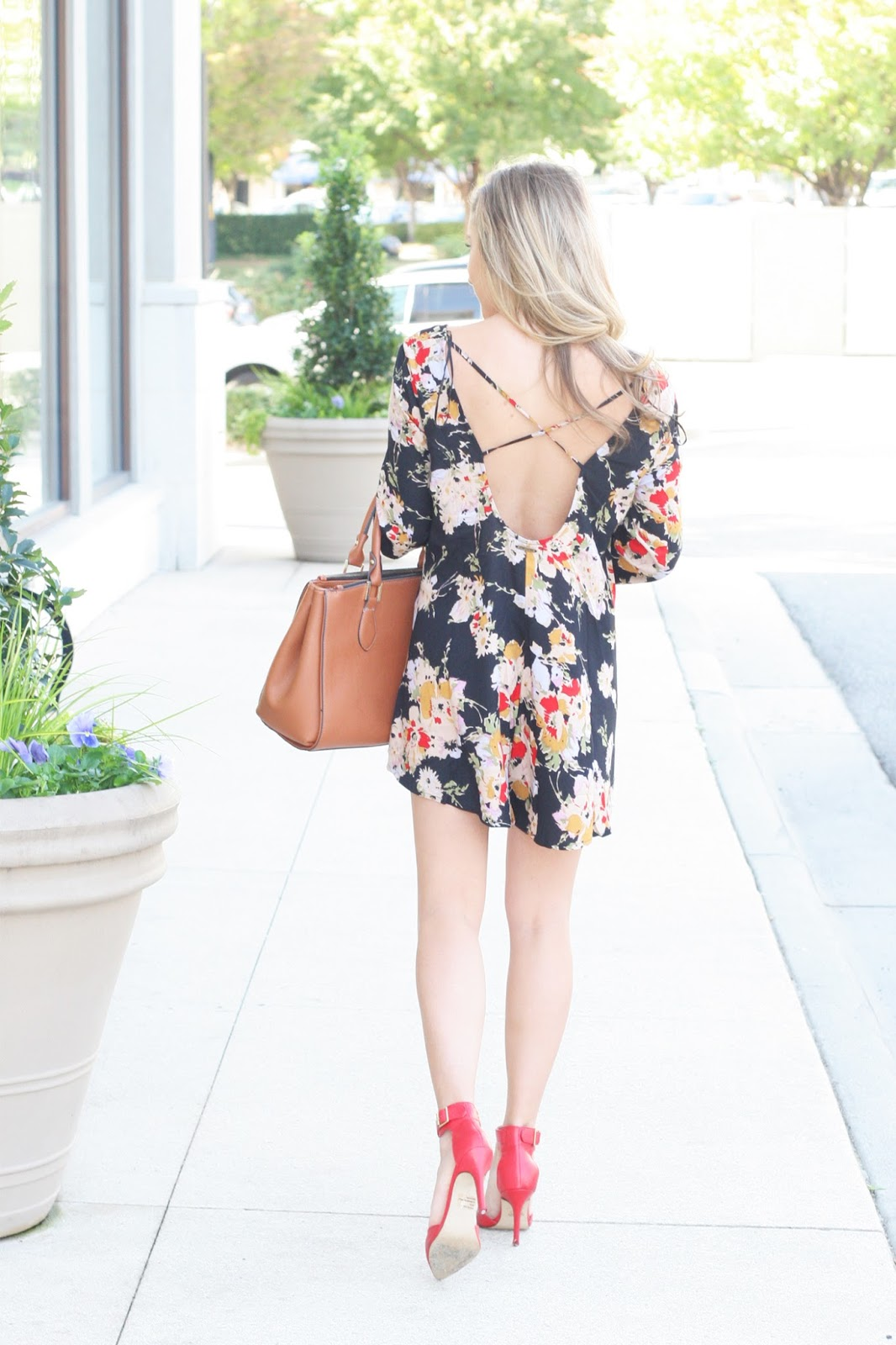 Criss-cross-back-floral-romper-dress