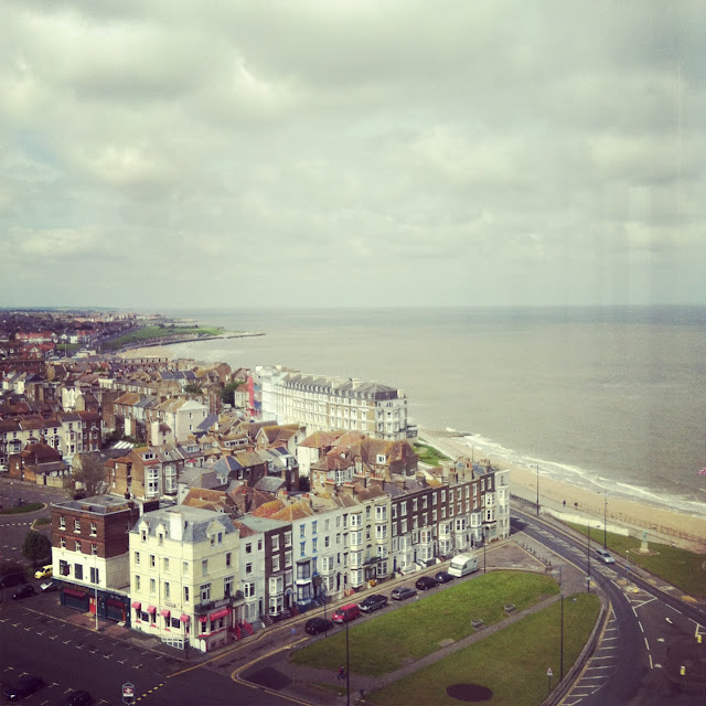 Margate beach - view from rental apartment