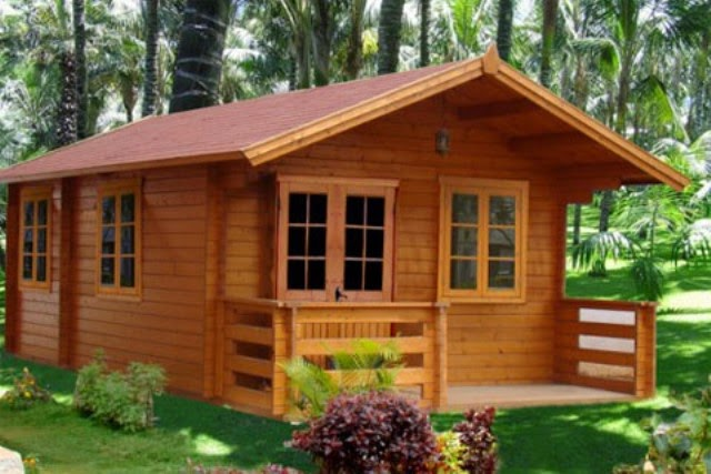 Denah rumah minimalis murah home design - Three wooden house plans ...