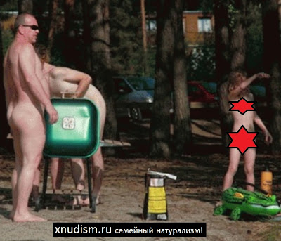 Naturalists parents and their children nudists in nature, nudism photo download
