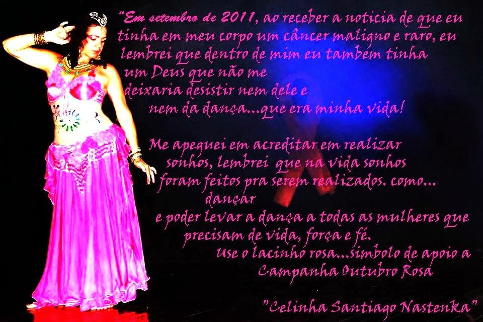Celinha Santiago na Campanha Outubro Rosa