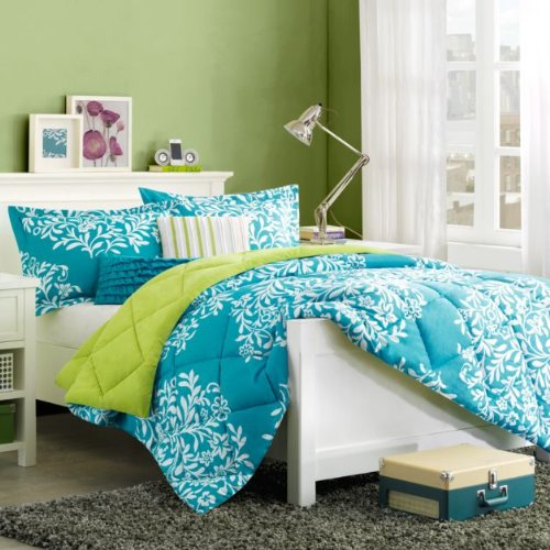 Total fab turquoise blue and lime green bedding sets - Turquoise and lime green decor ...