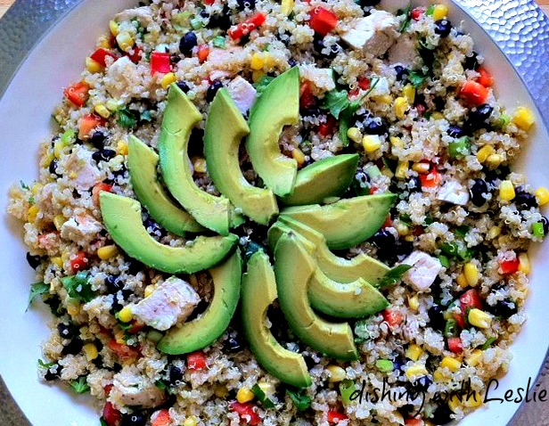 Southwest Quinoa Salad (Excellent with or w/out chicken!)