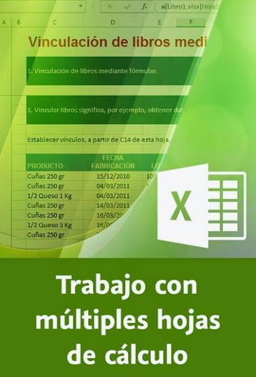 MEGAPOST 13 Cursos de Excel Video2brain MEGA, trabajo con multiples hojas de calculo en excel