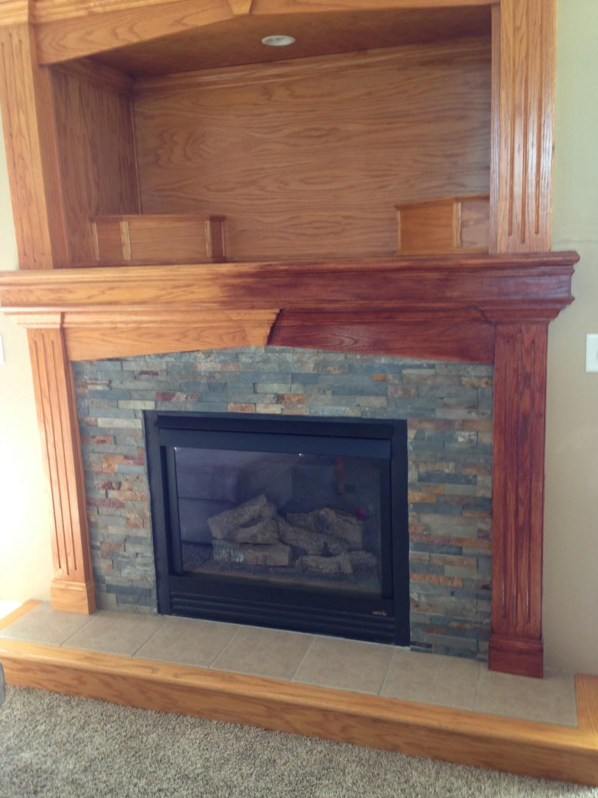 Yo Viv Gel Stain Fireplace Redo