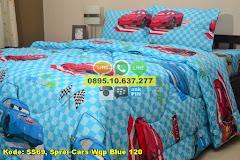 Harga Sprei Cars Wgp Blue 120 Jual