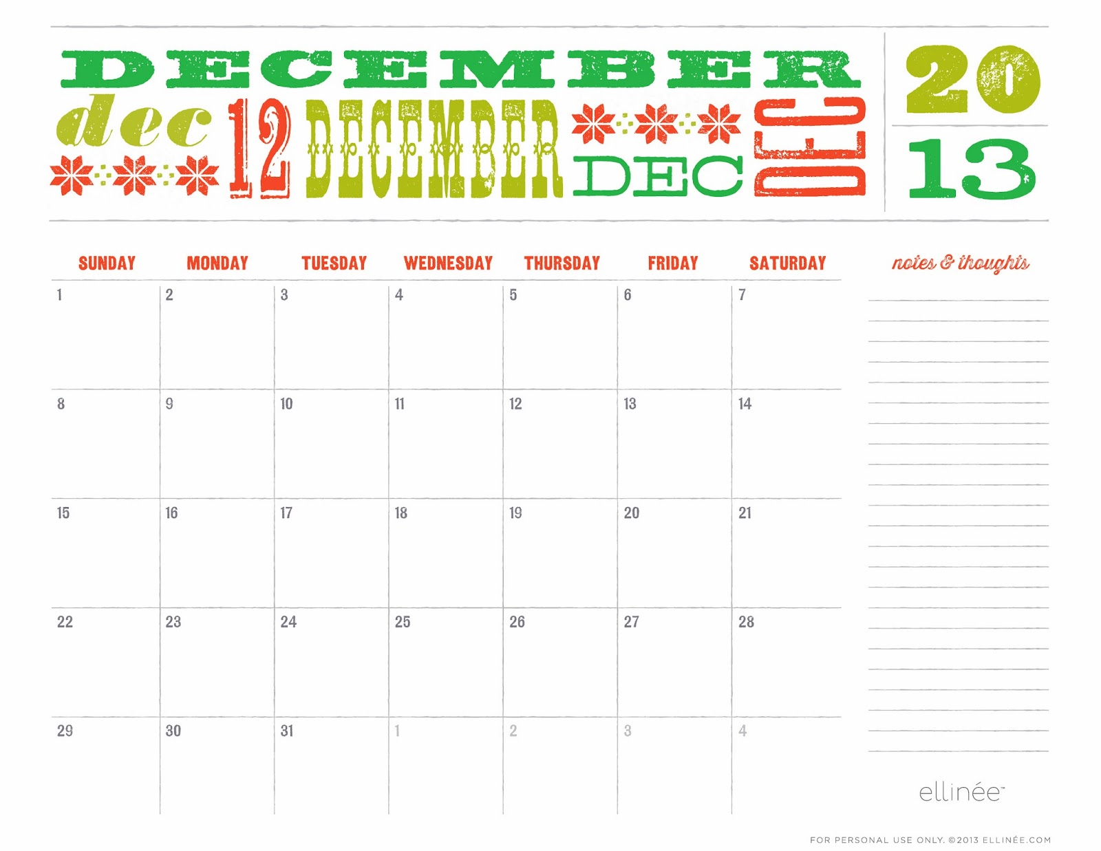 Cute December Calendar 2013 | Search Results | 2016 Calendar Printable