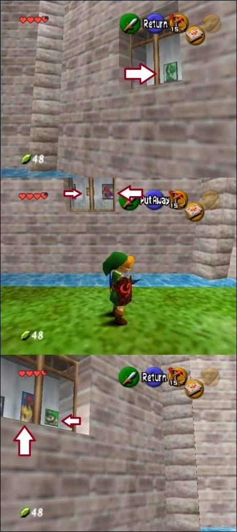 Personajes de Marios Bros en Zelda Ocarina of Time